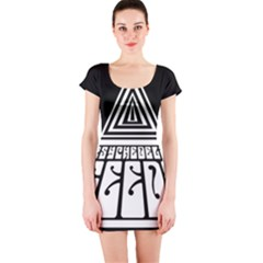 Psychedelic Seeds Logo Short Sleeve Bodycon Dress by Samandel