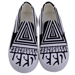 Psychedelic Seeds Logo Kids  Canvas Slip Ons