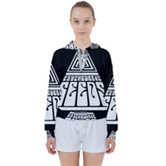 Psychedelic Seeds Logo Women s Tie Up Sweat