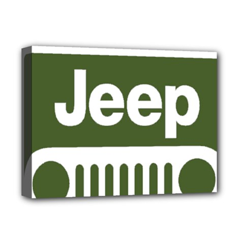 Only In A Jeep Logo Deluxe Canvas 16  X 12