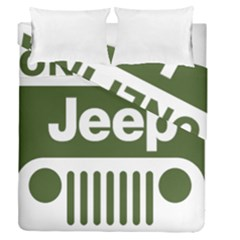 Only In A Jeep Logo Duvet Cover Double Side (queen Size)