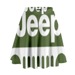 Only In A Jeep Logo High Waist Skirt by Samandel
