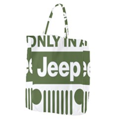 Only In A Jeep Logo Giant Grocery Zipper Tote
