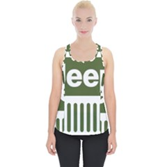 Only In A Jeep Logo Piece Up Tank Top