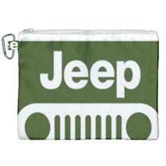 Only In A Jeep Logo Canvas Cosmetic Bag (xxl)