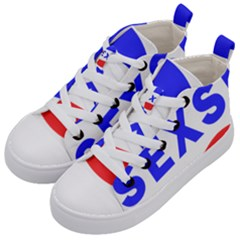 Sexsi Sexy Logo Kid s Mid Top Canvas Sneakers by Samandel