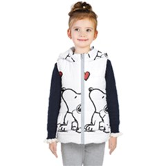 Snoopy Love Kid s Hooded Puffer Vest