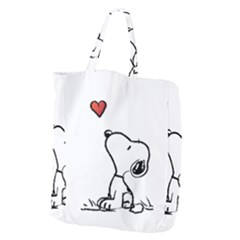 Snoopy Love Giant Grocery Zipper Tote