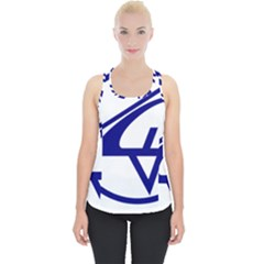 Sukhoi Aircraft Logo Piece Up Tank Top