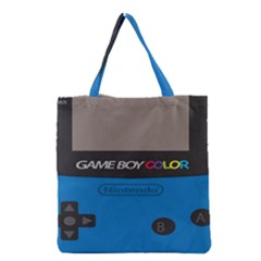 Game Boy Colour Blue Grocery Tote Bag by Samandel