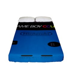 Game Boy Colour Blue Fitted Sheet (full/ Double Size) by Samandel