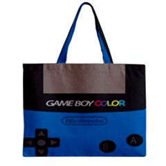 Game Boy Colour Blue Zipper Mini Tote Bag by Samandel