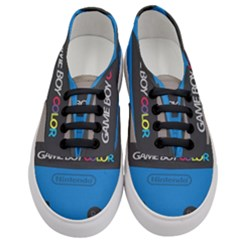 Game Boy Colour Blue Women s Classic Low Top Sneakers