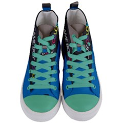 Game Boy Colour Blue Women s Mid Top Canvas Sneakers