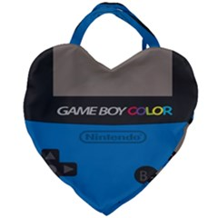 Game Boy Colour Blue Giant Heart Shaped Tote by Samandel