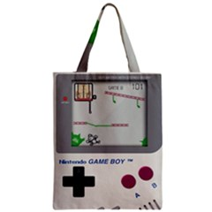 Game Boy White Zipper Classic Tote Bag by Samandel