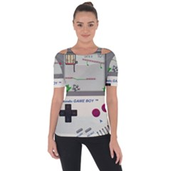 Game Boy White Short Sleeve Top