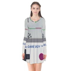 Game Boy White Flare Dress