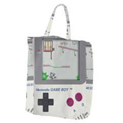 Game Boy White Giant Grocery Zipper Tote