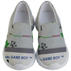 Game Boy White Kid s Lightweight Slip Ons
