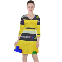 Game Boy Yellow Ruffle Dress