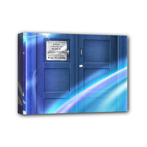 Tardis Space Mini Canvas 7  X 5