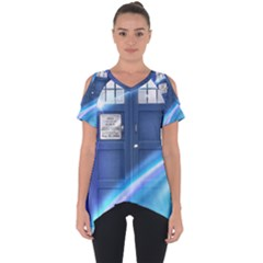 Tardis Space Cut Out Side Drop Tee