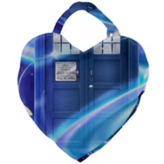 Tardis Space Giant Heart Shaped Tote