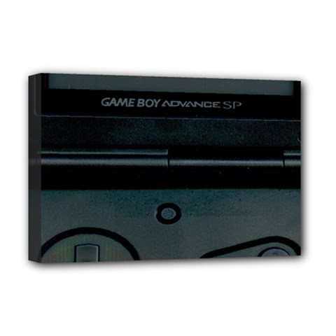 Game Boy Black Deluxe Canvas 18  X 12
