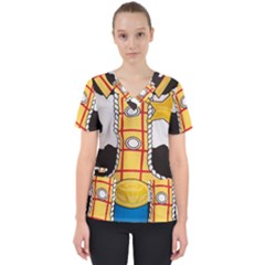 Woody Toy Story Scrub Top by Samandel