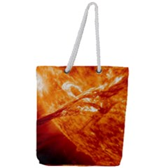 Spectacular Solar Prominence Full Print Rope Handle Tote (large)