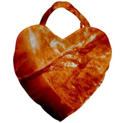 Spectacular Solar Prominence Giant Heart Shaped Tote
