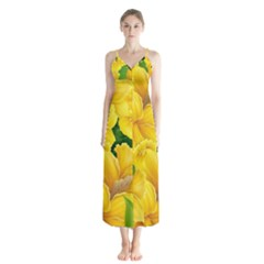 Springs First Arrivals Button Up Chiffon Maxi Dress