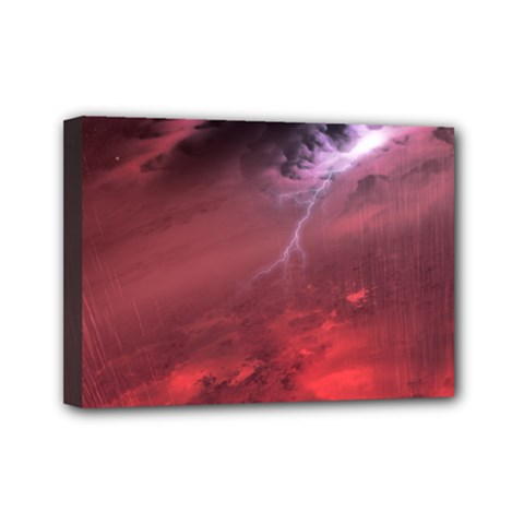 Storm Clouds And Rain Molten Iron May Be Common Occurrences Of Failed Stars Known As Brown Dwarfs Mini Canvas 7  X 5  by Sapixe
