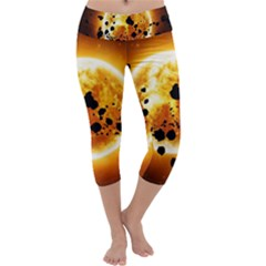 Sun Man Capri Yoga Leggings