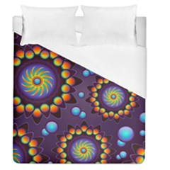 Texture Background Flower Pattern Duvet Cover (queen Size)