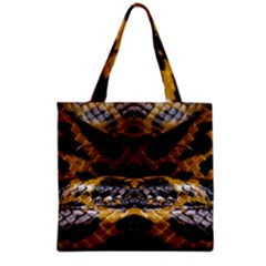 Textures Snake Skin Patterns Grocery Tote Bag by Sapixe