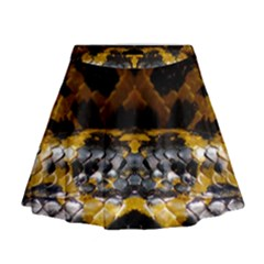 Textures Snake Skin Patterns Mini Flare Skirt by Sapixe