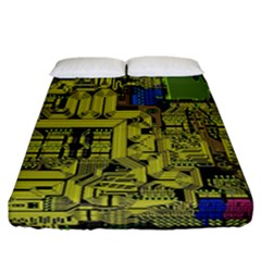 Technology Circuit Board Fitted Sheet (california King Size) by Sapixe