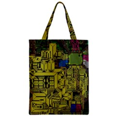 Technology Circuit Board Zipper Classic Tote Bag