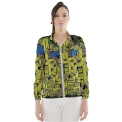 Technology Circuit Board Wind Breaker (women) by Sapixe