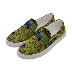 Technology Circuit Board Women s Canvas Slip Ons by Sapixe