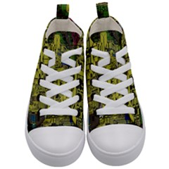 Technology Circuit Board Kid s Mid Top Canvas Sneakers