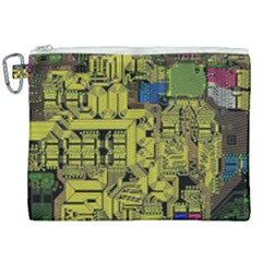 Technology Circuit Board Canvas Cosmetic Bag (xxl) by Sapixe