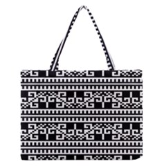 Traditional Draperie Zipper Medium Tote Bag by Sapixe