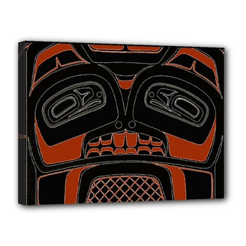 Traditional Northwest Coast Native Art Canvas 16  X 12
