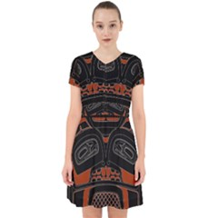 Traditional Northwest Coast Native Art Adorable In Chiffon Dress
