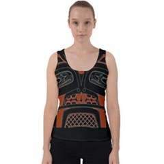Traditional Northwest Coast Native Art Velvet Tank Top by Sapixe
