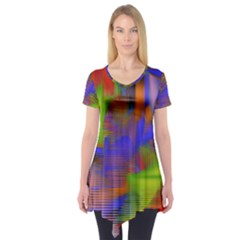 Texture Pattern Programming Processing Short Sleeve Tunic  by Sapixe