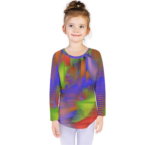 Texture Pattern Programming Processing Kids  Long Sleeve Tee by Sapixe
